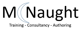McNaught logo. Byline reads: training, consultancy, authoring.