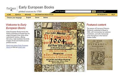Early European Books logo