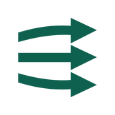 An icon of 3 right facing arrows representing submitting data.
