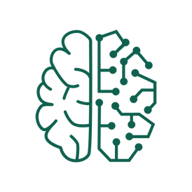 An icon features a brain with the right hemisphere formed from network wiring.