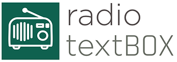 The radio textBOX logo. Links to the textBOX Spotify playlist.