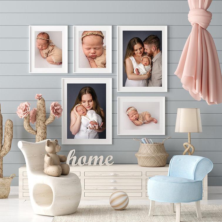 Newborn photography display tawa wellington