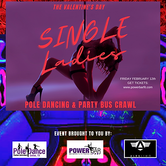 single ladies pole dancing and party bus
