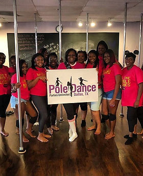 Dallas Tx Pole Dancing Class for a Birthday Party at Poledancepartiesdallas.com