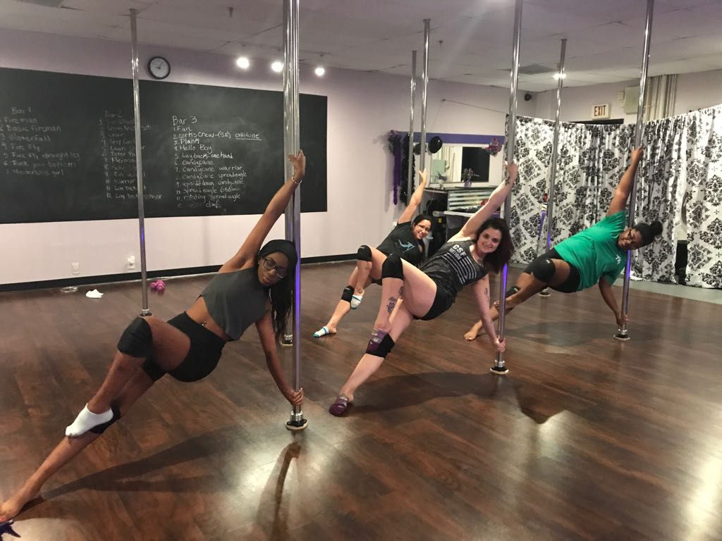 Try a Pole Dance Class in Downtown Dallas for a fun fitness event