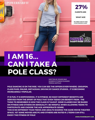 Should Teens Be Permitted To Take a Pole Dancing Class? If so, what's the age...