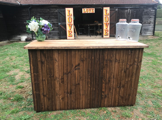 Rustic Bar for Hire 1