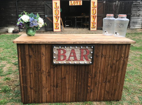 Rustic Bar for Hire 4