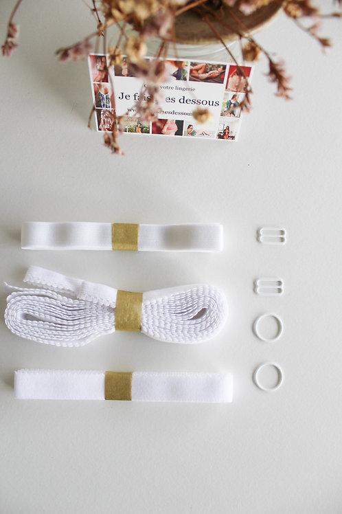 Kit élastiques Blanc