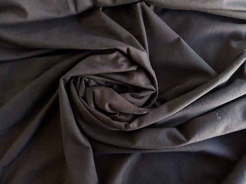 Jersey coton bio - Noir