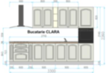 Bucatarie CLARA STAS (Color) - cotata.pn