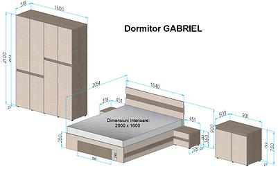 Dormitor Gabriel STAS (Color) - cotat.pn