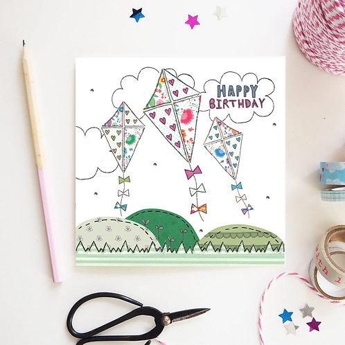 High as a Kite Birthday Card