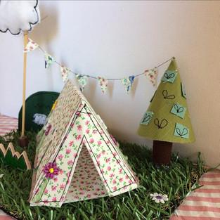 Fabric campsite