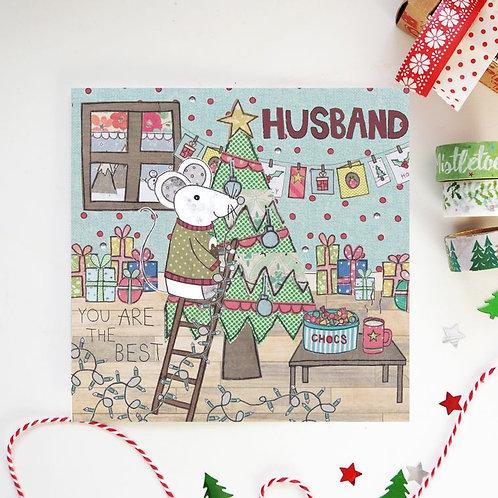 6 x Husband Christmas Card
