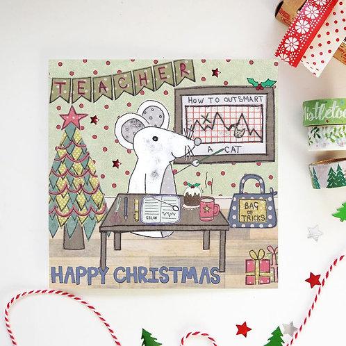 6 x Teacher Christmas Card
