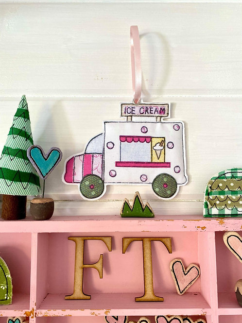 Ice Cream Van Hanging Decoration