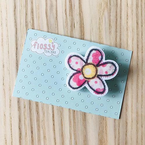 Pink Flower Badge