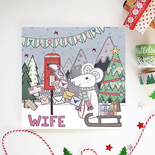 6 x Wife Christmas Card