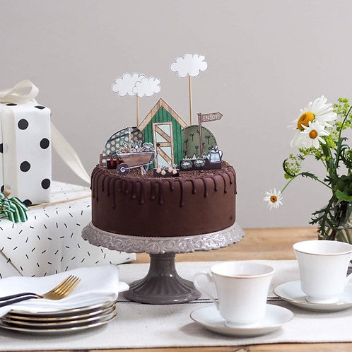 Shed and Allotment Cake Topper