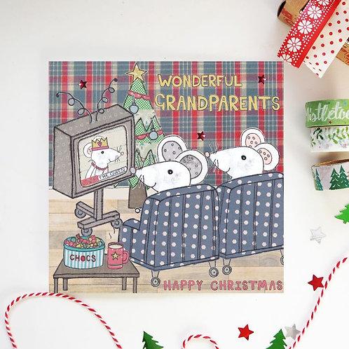 6 x Grandparents Christmas Card