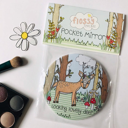 Deer Pocket Mirror