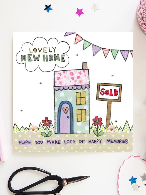 3 x Lovely New Home Card