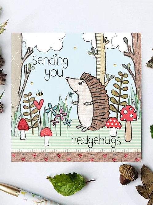 3 x Sending Hedgehugs Card