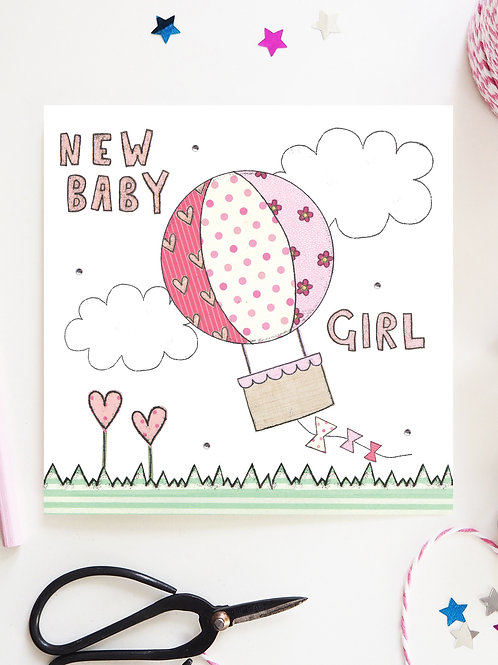 3 x New Baby Girl Card