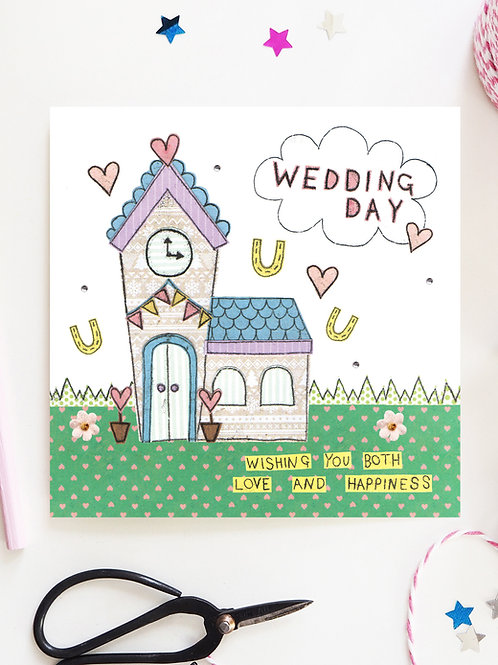 3 x Wedding Day Church Card
