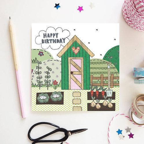 3 x Garden Shed Birthday Card