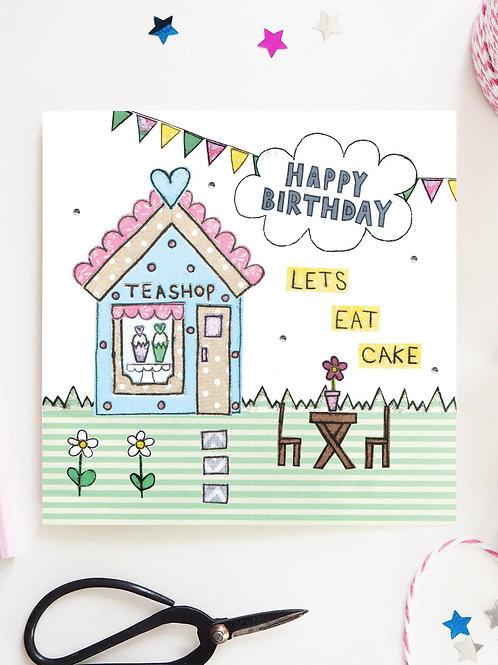Teashop Birthday Card