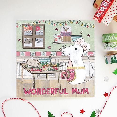 6 x Mum Christmas Card