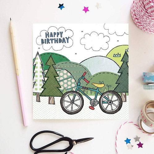 3 x Bike Birthday Card