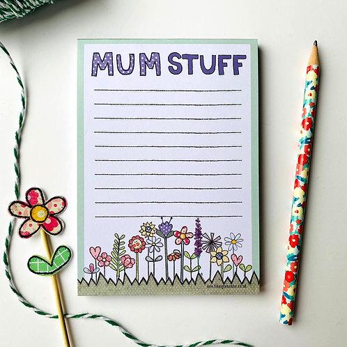 Mum Stuff A6 Notepad