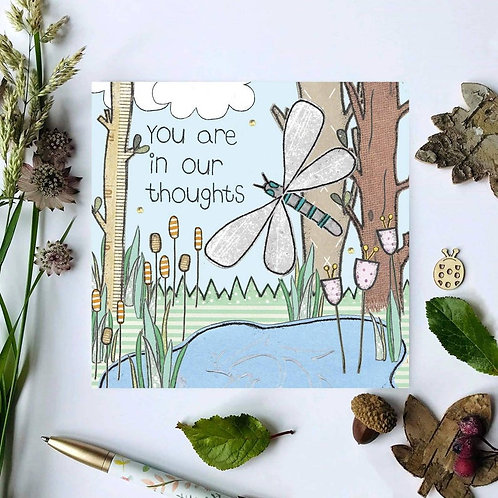 3 x You are in our thoughts card