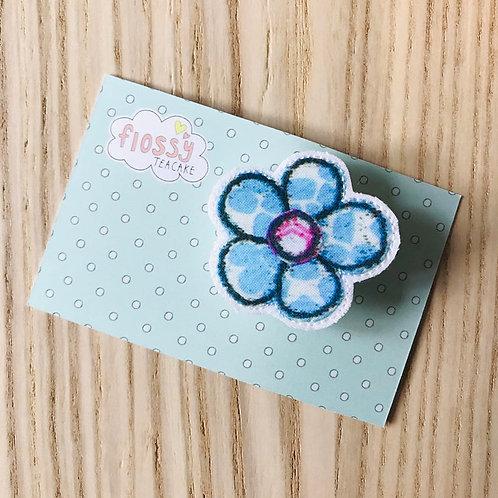 Blue Flower Badge