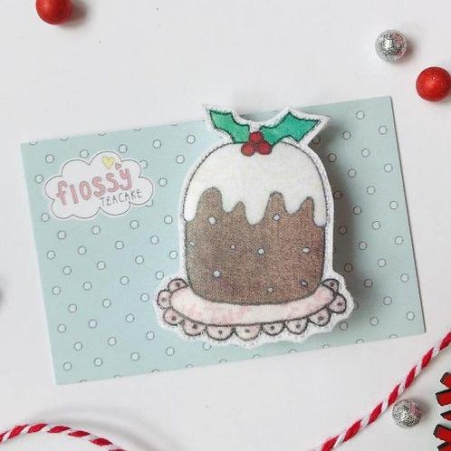 3 x Christmas Pudding Badge