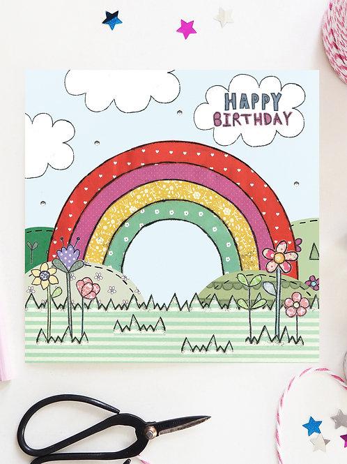 3 x Rainbow Birthday Card