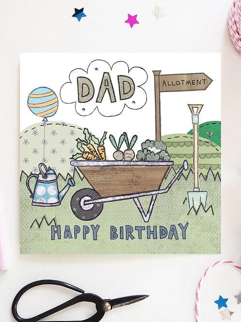 3 x Dad Allotment Birthday Card
