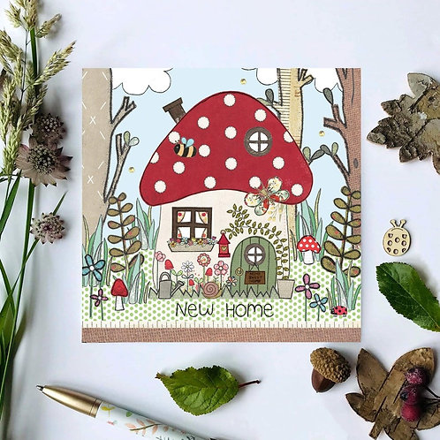 3 x Toadstool New Home Card