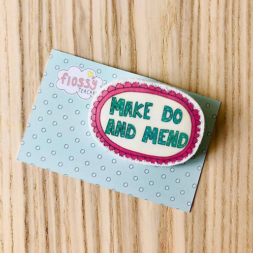 3 x Make do and Mend badge