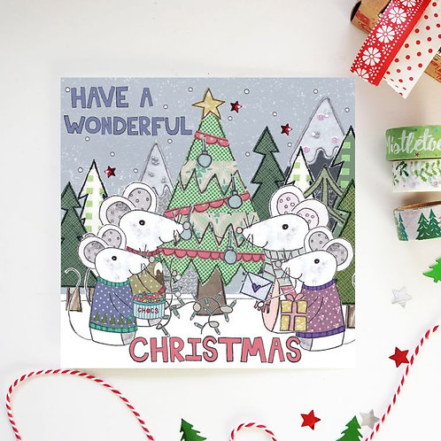 6 x Wonderful Christmas Card