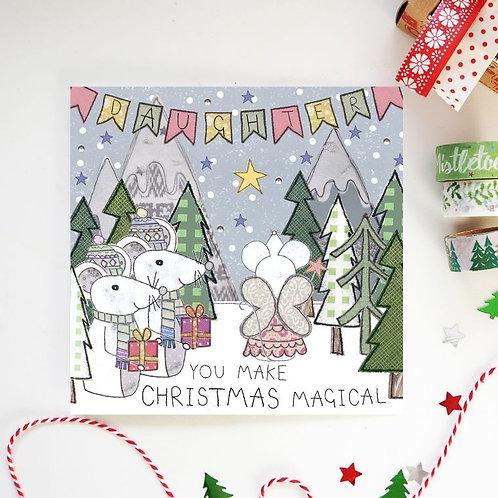 6 x Daughter Christmas Card