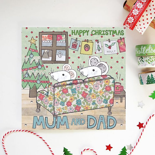 6 x Mum and Dad Christmas Card