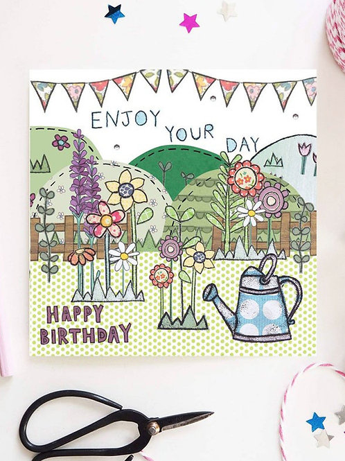Watering Can Birthday Card