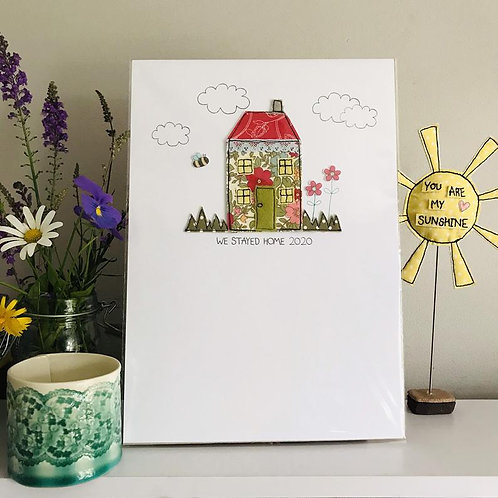 Stitched House A4 artwork