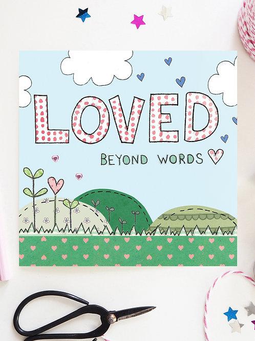 Loved Beyond Words Card