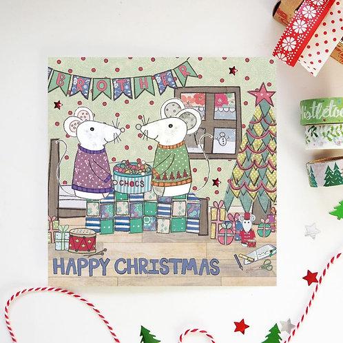 6 x Brother Christmas Card