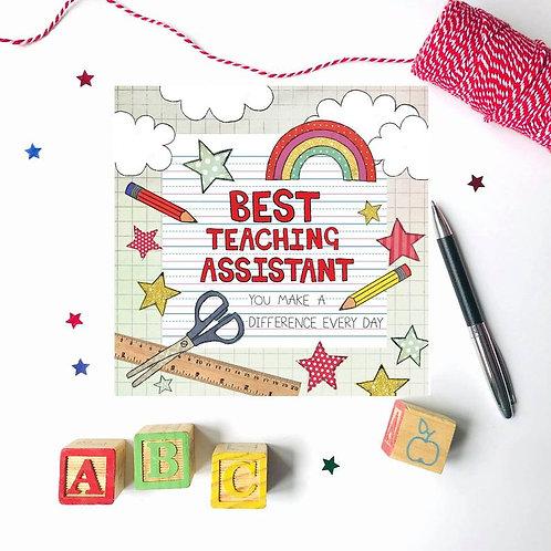 Best Teaching Assistant Card